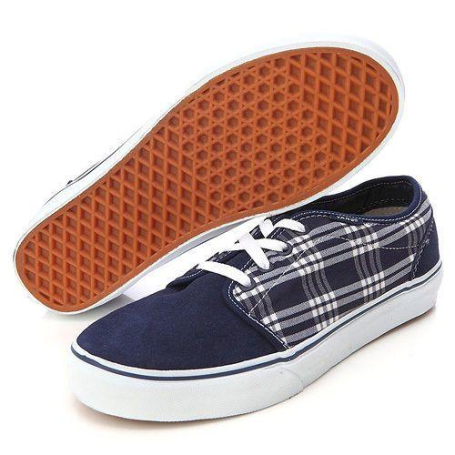 Vans 106 Vulcanized Blue Plaid Skateboarding Shoes Sneakers New NIB NWT 11.5 #Vans #Skateboarding