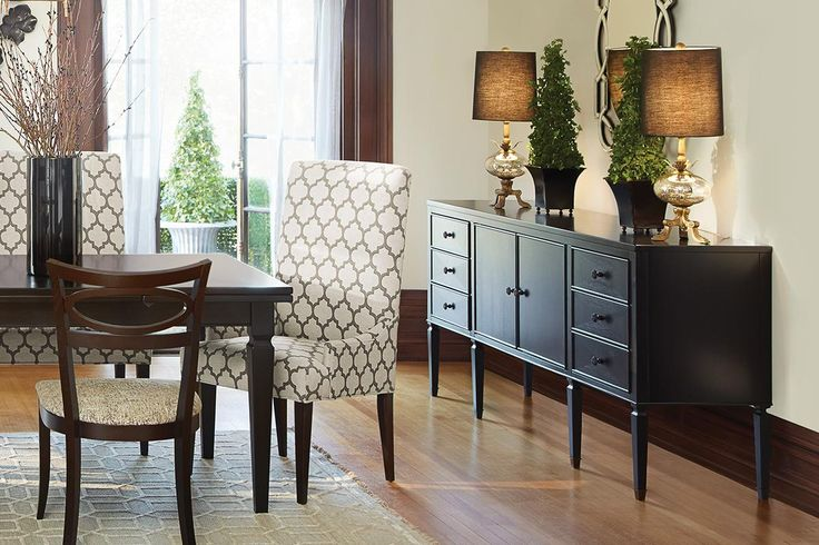 The Luciano buffet offers lots of storage Shop this buffet and other dining designs at Arhaus