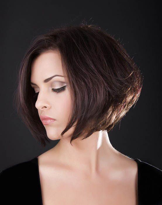 chin length hairstyles | chin-length-graduated-bob-hairstyle