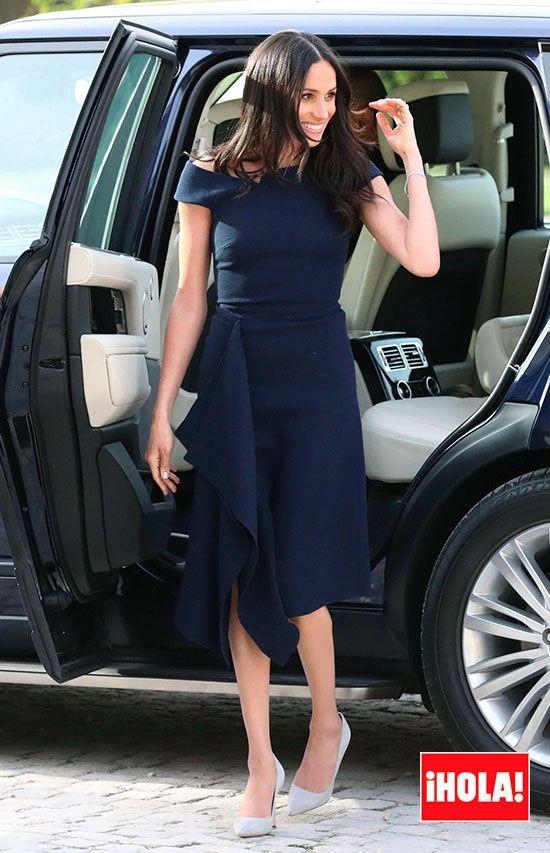 7fe2a2e7e El guiño de Meghan Markle a la realeza, en su último vestido antes ...