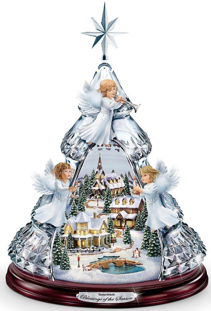 Blessings Of The Season Crystal Angel Tabletop