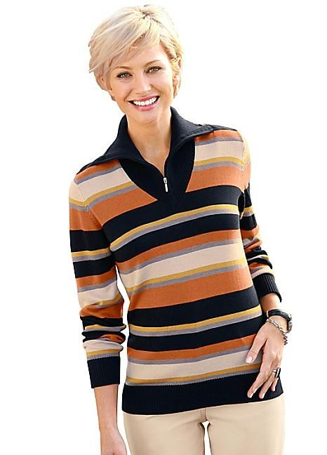 Collection L Easy Care Striped Jumper