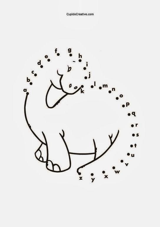 belajar anak TK huruf A-Z, menghubungkan titik, dot to dot, gambar dinosaurus