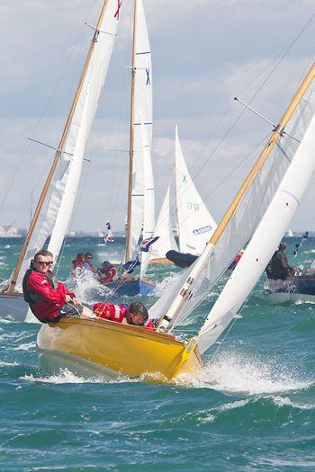 The XOD keelboat 'Partnership' racing during Aberdeen Asset Management Cowes Week. #sailboats #boats #sailing