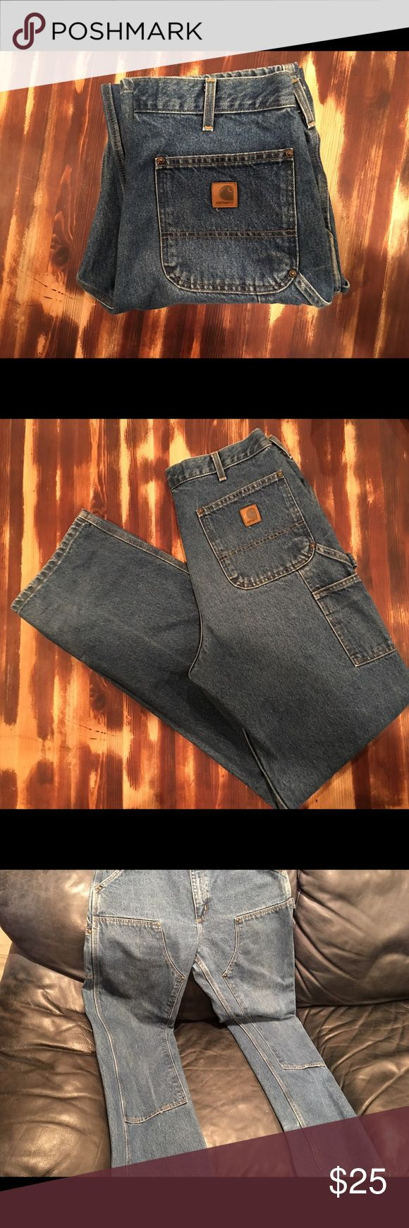 Carhartt carpenter work jeans Double denim Carhartt jeans in great condition!!!  Size 34X36. Carhartt Jeans