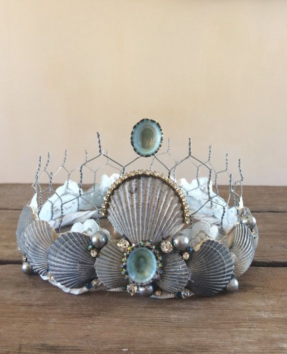 Fancy Seashell Crown Party Crown From the Sea by CinamonGirl