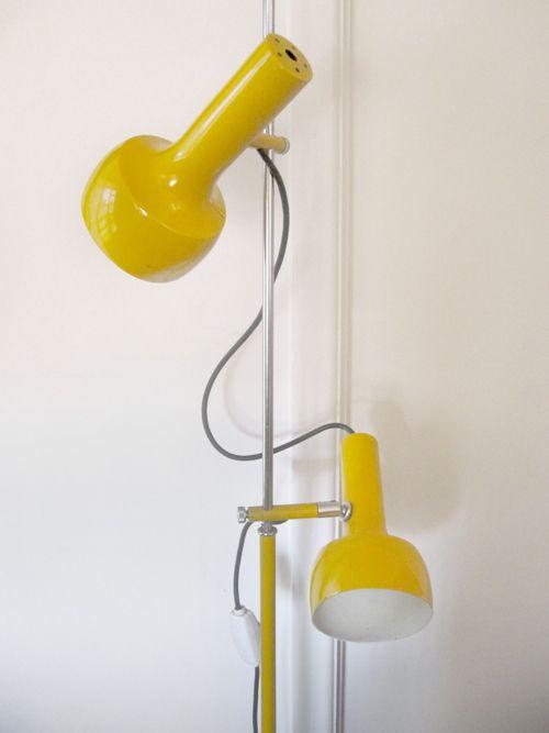 Vintage Yellow Oslo Floor Lamp