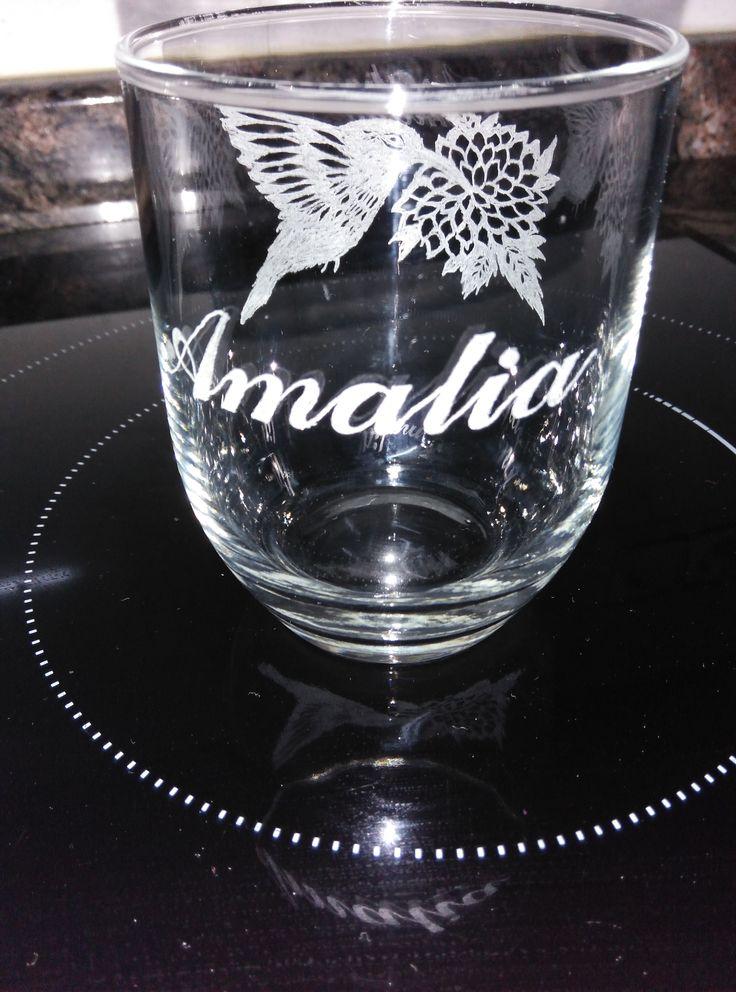 Vaso grabado grande amalia tallado sobre cristal pinterest - Vasos grandes cristal ...