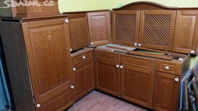 Rustikální kuchyně borovice masiv rohová - obrázek číslo 1