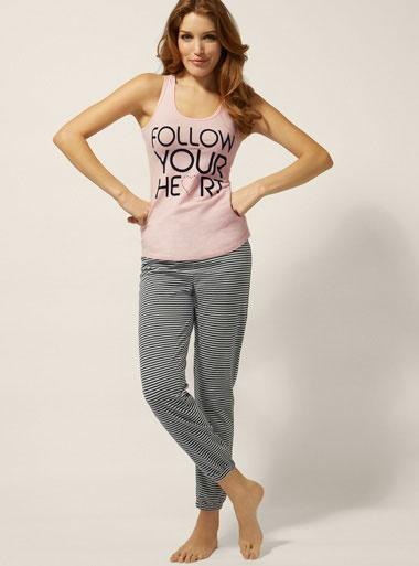 'Follow Your Heart' Pyjamas - Pink Mix | Boux Avenue
