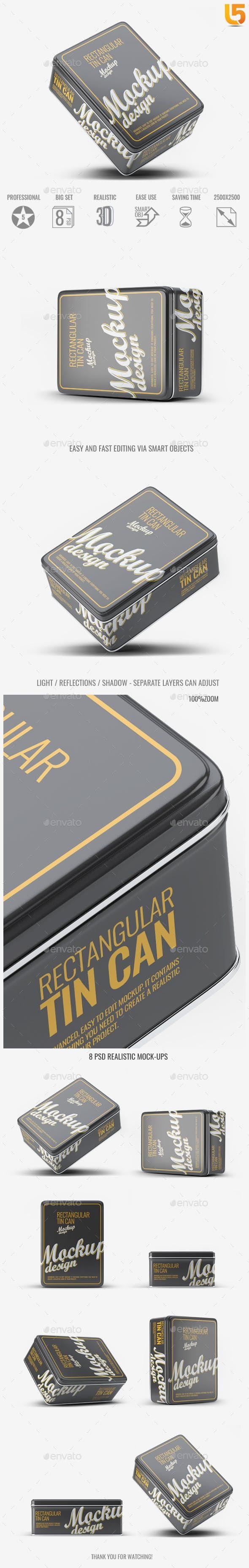 Download Tin Can Mock Up V 1 Mockup Packaging By L5design