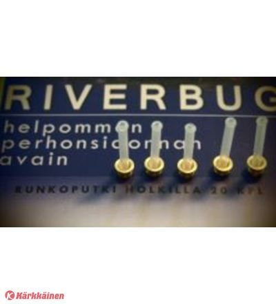 RiverBug tube fly sleeves. Brass version for fast sinking. #riverbug  #kärkkäinen   #fishing  #kalastus  #fly  #flytying  #flyfishing  www.riverbug.fi