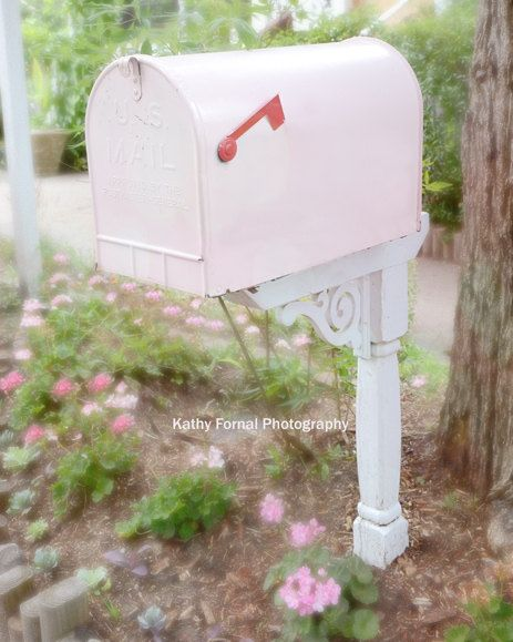 Hey, I found this really awesome Etsy listing at http://www.etsy.com/listing/155204279/cottage-pink-mailbox-vintage-pink