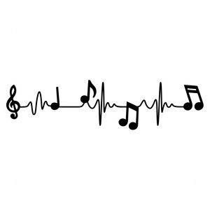 Music Word Lifeline Vinyl Automobile Decal Bumper Window Sticker Any Coloration A number of Sizes Jenuine Crafts