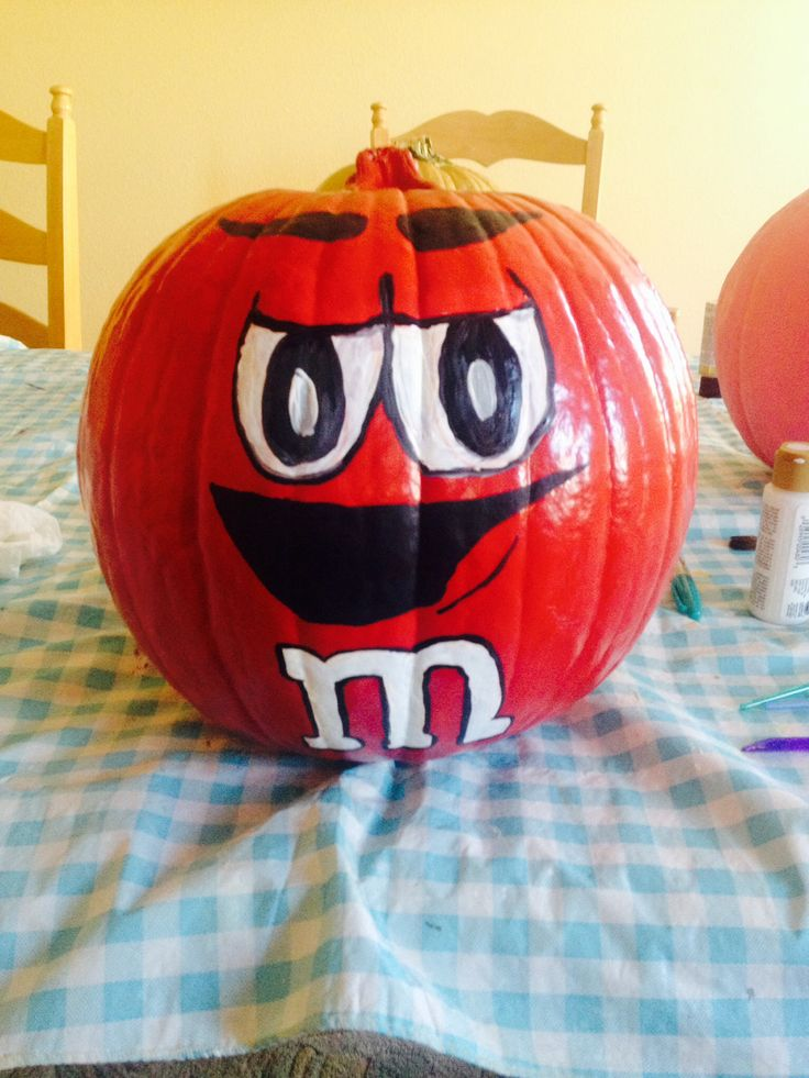 Painted pumpkin m&m | Pumpkin | Pinterest