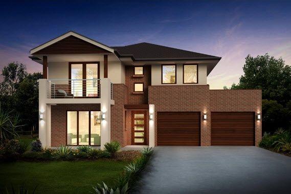 Dise o de casa de dos pisos con dos garages casas y for Disenos de fachadas de casas de dos pisos modernas