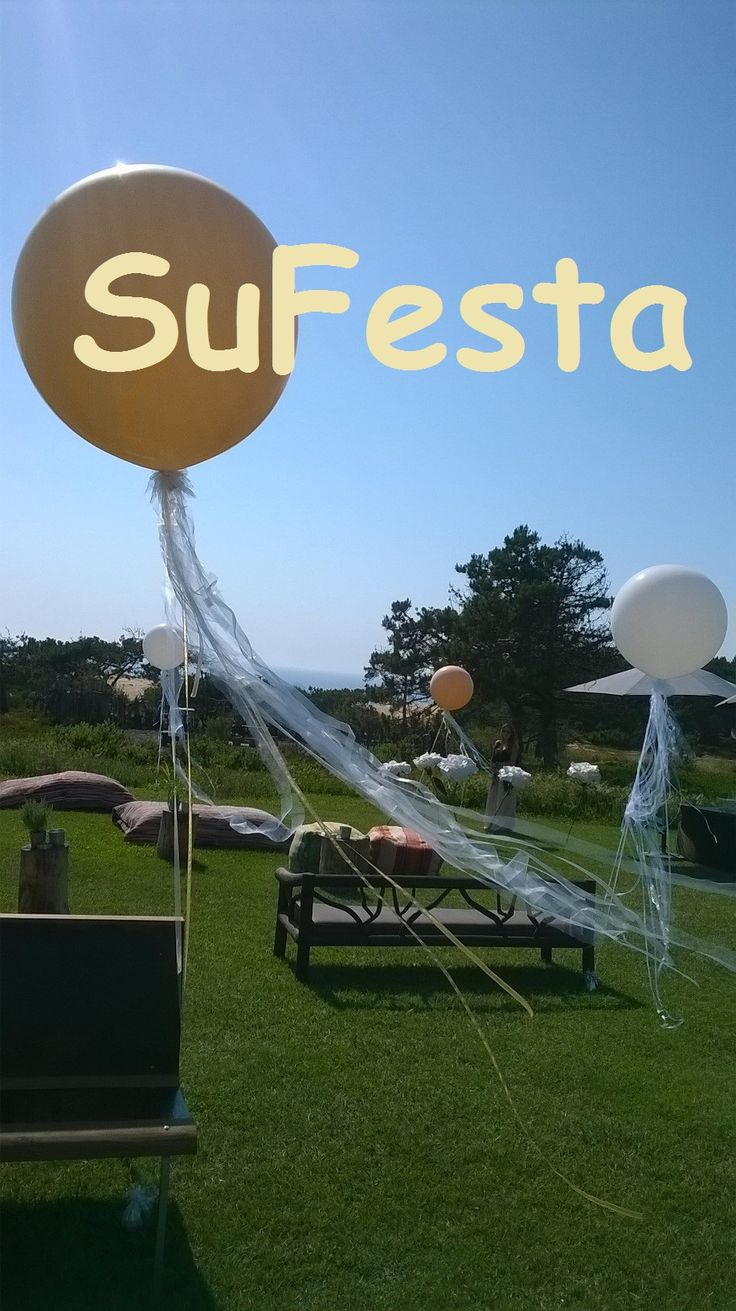 Balões gigantes  welcome drink & modern wedding decoration with geronimo ballons