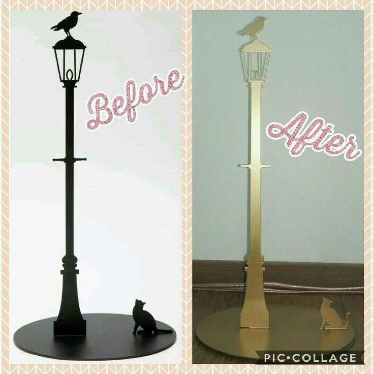 Paper towel holder make-over, from black to gold. Simple spray paint can do a lot!