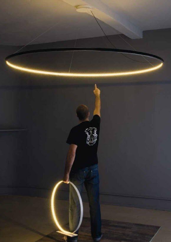 contemporary pendant lamp (steel) OMEGA Le Deun Luminaires