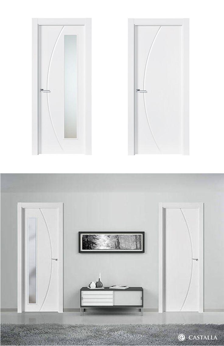 Puerta de Interior Blanca | Modelo Bacon de la Serie Lacada de Puertas Castalla. Puerta Lacada blanca. Consulta todas sus posibles combinaciones en info@puertascastalla.com | puertas Interiores blancas | puertas de interior blancas | puertas interiores lacadas | puertas de interior lacadas | puertas blancas
