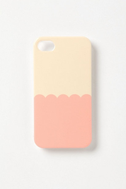 anthro iphone scalloped cover