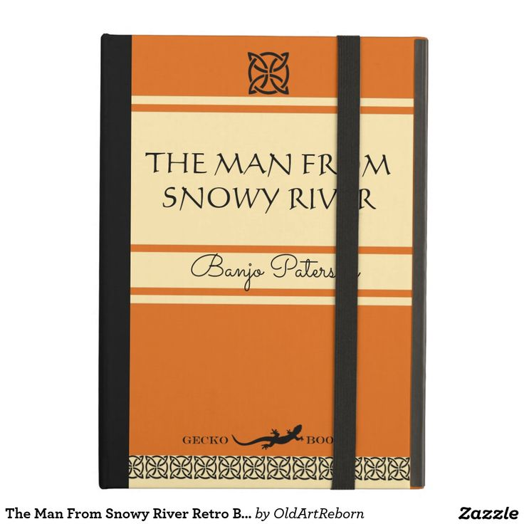 The Man From Snowy River Retro Book Cover Bag Case For iPad Air