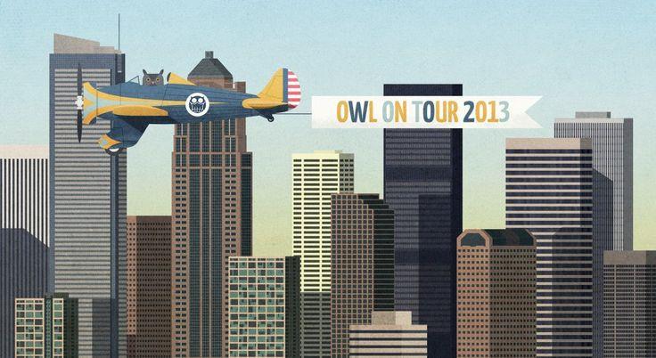 Owl on Tour - Owl Illustration Agency na turné by JAN SRAMEK