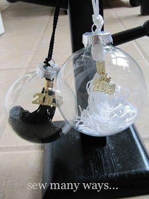 graduation tassel ornament - love this idea.