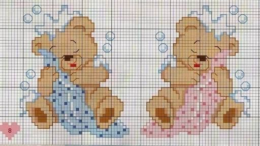 ponto cruz para bebe toalha de banho - Pesquisa Google
