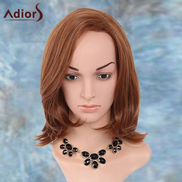 Straight Medium Side Parting Natural Adiors Synthetic Wig, BROWN in Synthetic Wigs | DressLily.com