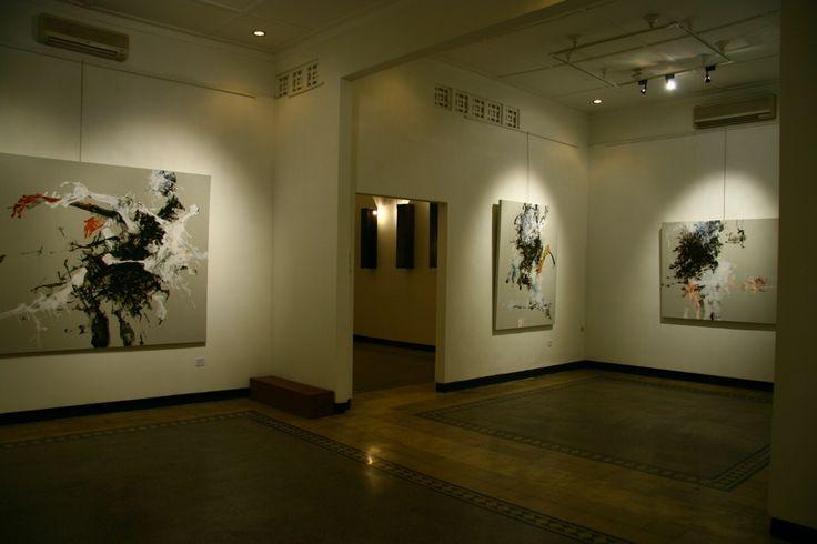 Christine Ay Tjoe Artist Paintings Exhibition Emmitan Contemporary Art Gallery Surabaya Indonesia