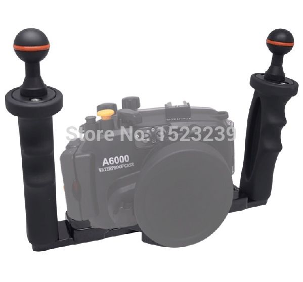 119.98$  Buy now - http://aliiy8.shopchina.info/1/go.php?t=32329895454 - Mcoplus Underwater Tray Housings for Gopro Action Camera Holder Double Grip Dive for Canon Nikon Sony Fujifilm Olympus&Panasonic  #buymethat