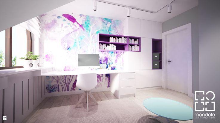 Pokój dla dziewczynki w 271m2 domu pod Ostrołęką - zdjęcie od studio_projektowe_mandala - Pokój dziecka - Styl Skandynawski - studio_projektowe_mandala