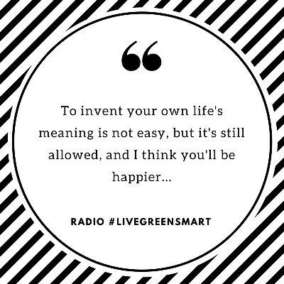 Radio #LiveGreenSmart.  Get there... http://www.livegreensmart.co.za