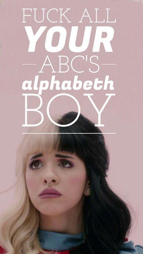 Wth does it say alphabeth boy