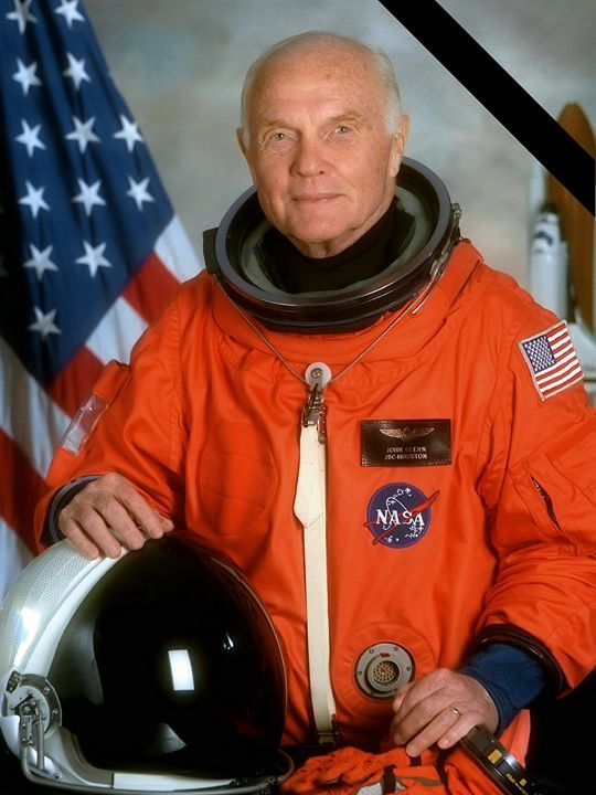 Former astronaut John Glenn the first American to orbit Earth Marine Corps fighter pilot and United States Senator has died at 95.