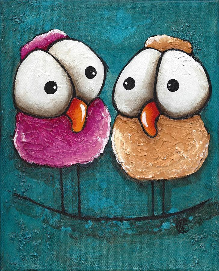 Рисунок смешные птички, днем рождения мужчине