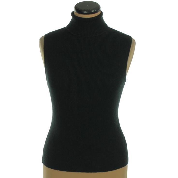 Florence+Fred fémszálas fekete kötött mellény | Felső, pulóver, ing - Női ruha