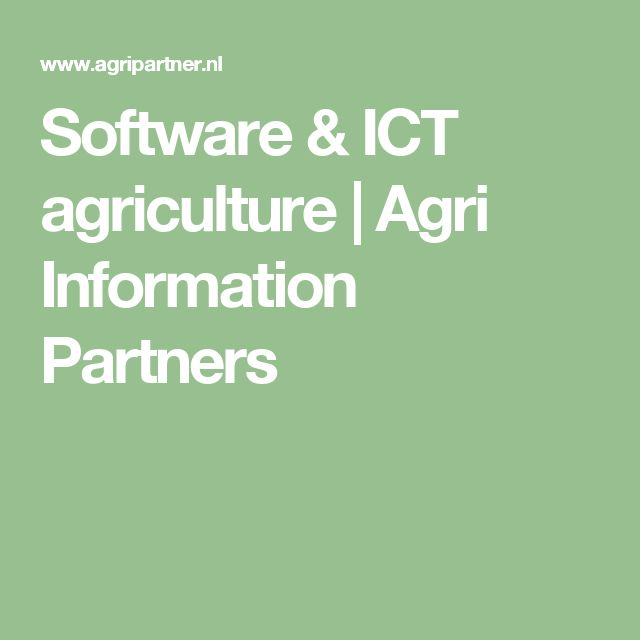 Software & ICT agriculture | Agri Information Partners