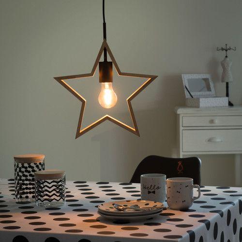 ORION wooden star ceiling light D 33cm
