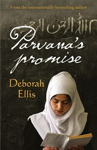 Parvana's Promise by Deborah Ellis. This is the third book in the Parvana series. Parvana, now 15, is found in a bombed-out school and held as a suspect terrorist by American troops in Afghanistan.