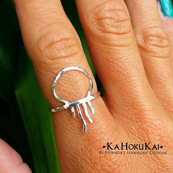 Jellyfish Ring Sterling Silver Hammered by shandahawaiiandesign Interesting fact: Symbol for MS