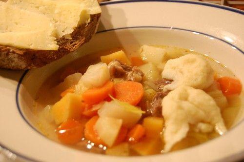 Älgköttsoppa med klimp