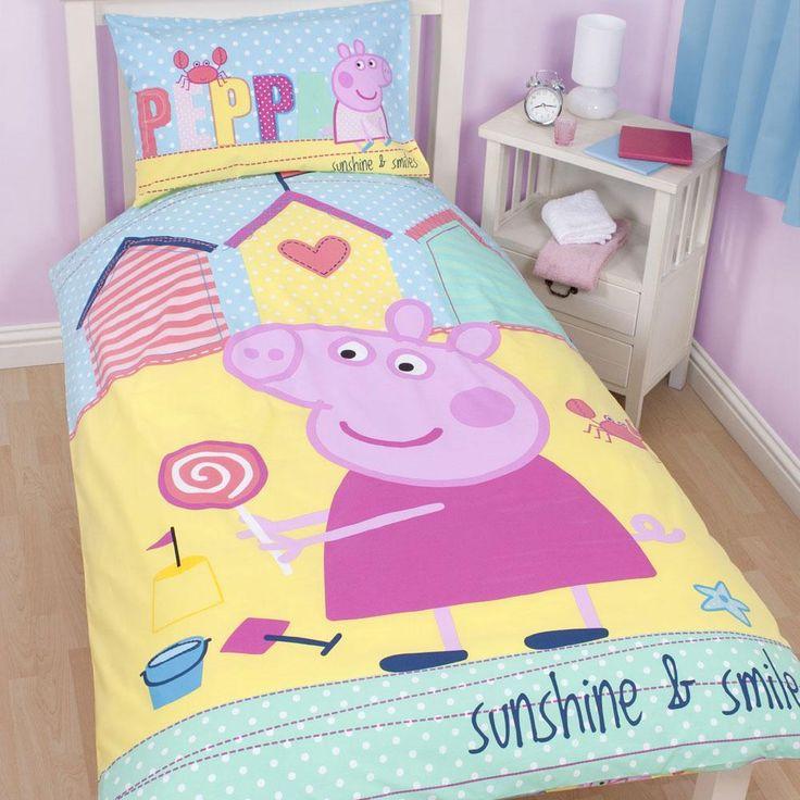 Peppa pig bedding   bedroom decor  duvets  wall stickers  lighting  curtains. 20 best Peppa Pig bedroom images on Pinterest   Bedroom ideas