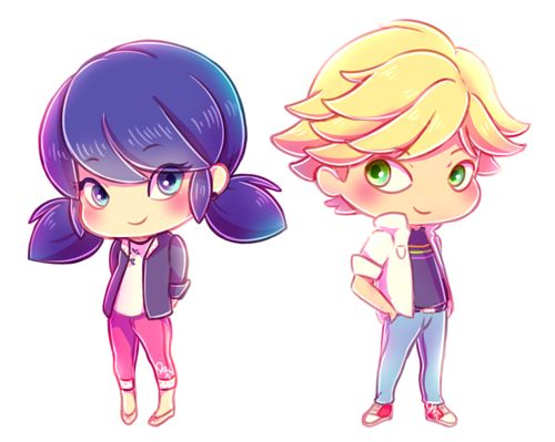 Marinette and Adrien - Miraculous Ladybug fã Art (39329043) - fanpop