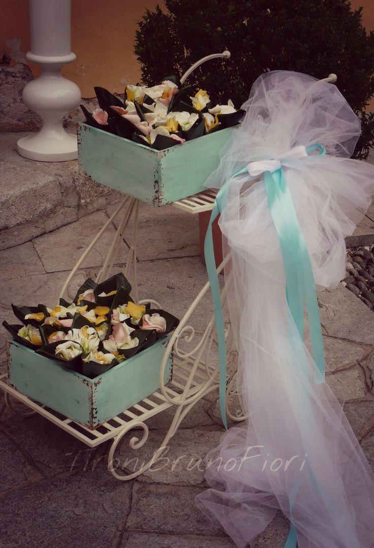 Conetti porta riso e petali#tiffany#love#tironibrunofiori