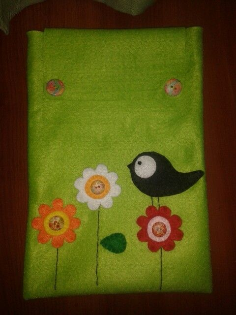Carpeta documentos fieltro felt bird case