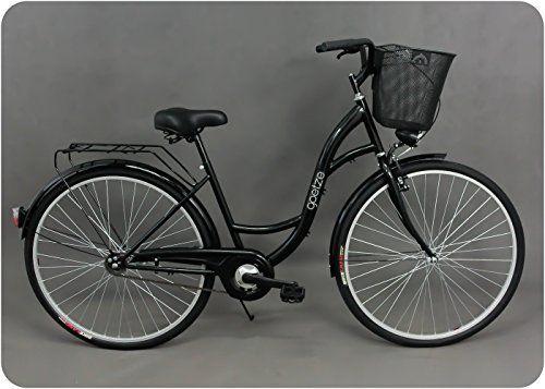 All-black-ladies-bike-vintage-look-swan-style-town-bike-quick-delivery-look