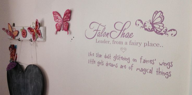 Custom wall decal with girls name and meaning