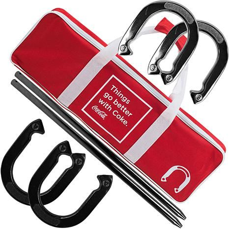 Shop Coca Cola Horseshoe Set with Case 7521635, read customer reviews and more at HSN.com.